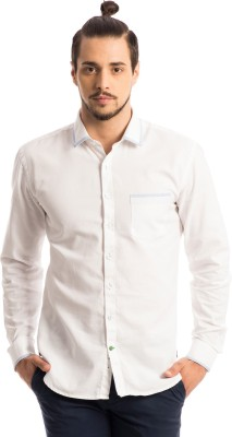 Specimen Men's Solid Casual White Shirt