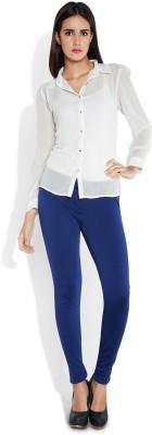 Park Avenue Women,s Solid Formal White Shirt