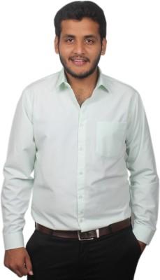 Maharaja Men's Solid Formal Green Shirt