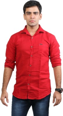 Basil Men's Solid Casual Red Shirt