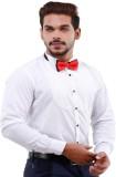 LaMode Men's Solid Casual White Shirt