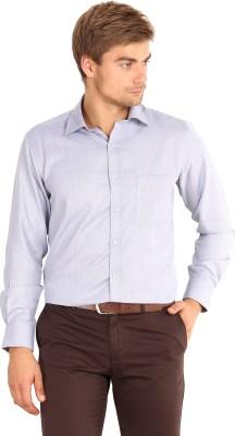 I-Voc Men's Woven Formal Blue Shirt