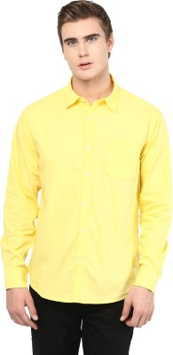 Silver Streak Men's Solid Casual Yellow Shirt