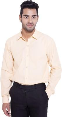 Deeksha Men's Solid Formal Beige Shirt