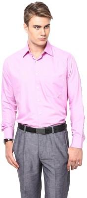 Shaftesbury London Men's Solid Formal Pink Shirt