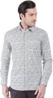 Oxemberg Formal Shirts (Men's) - Oxemberg Men's Printed Formal Blue Shirt