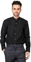 Hutz Formal Shirts (Men's) - Hutz Men's Solid Formal Black Shirt
