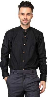Hutz Men's Solid Formal Black Shirt