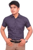 Hometrade India Men's Printed Casual Bla...
