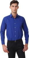 Threadroots Formal Shirts (Men's) - Threadroots Men's Solid Formal Dark Blue Shirt