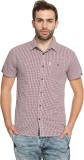 883 Police Men's Checkered Casual Red Sh...
