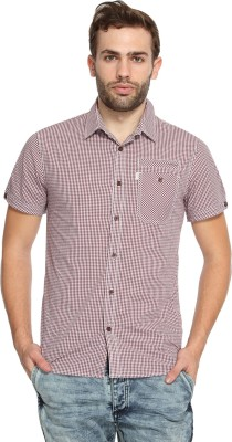 883 Police Men's Checkered Casual Red Shirt
