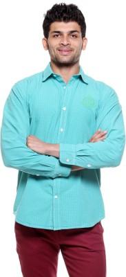 Fashion My Day Men's Checkered Casual Blue Shirt