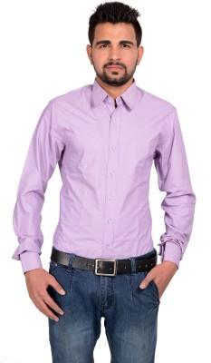 Riwas Collection Men,s Striped Formal Purple, Grey Shirt