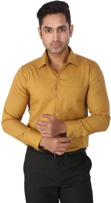 Regza Men's Solid Formal Gold Shirt