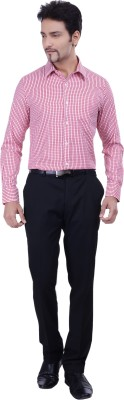 Validus Men's Checkered Formal Red Shirt