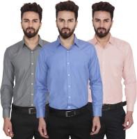 Utility Studio Formal Shirts (Men's) - Utility Studio Men's Solid Formal Multicolor Shirt(Pack of 3)