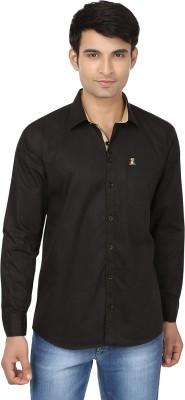 Fashion Flag Men's Solid Casual Black Shirt