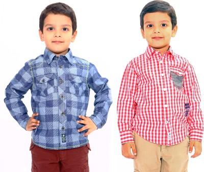 Bio Kid Boy's Woven Casual Multicolor Shirt
