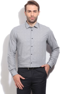 Arrow New York Men's Self Design Casual Grey Shirt