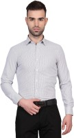 Urban Nomad By Inmark Formal Shirts (Men's) - Urban Nomad by Inmark Men's Checkered Formal White, Brown Shirt