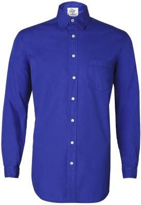 The Stiff Collar Men's Solid Formal Blue Shirt