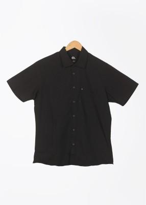 Quiksilver Men's Striped Casual Black Shirt