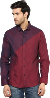 I Know Men's Solid Party Maroon Shirt