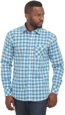 Fash-A-Holic Men,s Checkered Casual Blue Shirt