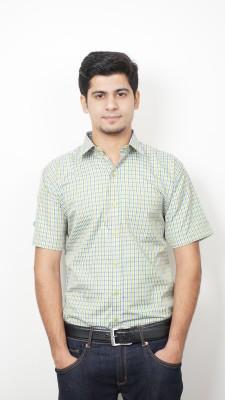 Frissk Men's Checkered Formal Multicolor Shirt