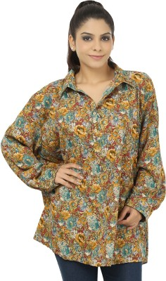 Chic Fashion Women's Floral Print Formal Multicolor Shirt