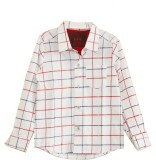 My Little Lambs Boys Checkered Casual Wh...