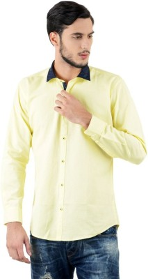 Triple Eight Men's Solid Casual Yellow Shirt