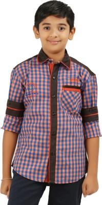 Cub Kids Boy's Printed Casual Beige, Maroon Shirt