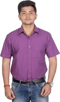 SWADESHI Men's Solid Casual Maroon Shirt
