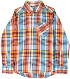 The Children's Place Boys Checkered Casual Multicolor Shirt