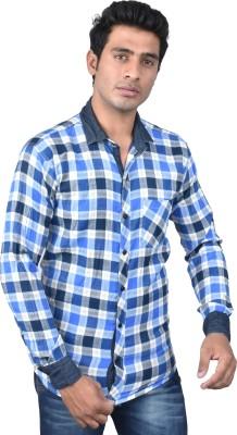 Royal Crown Men's Self Design Casual Multicolor Shirt