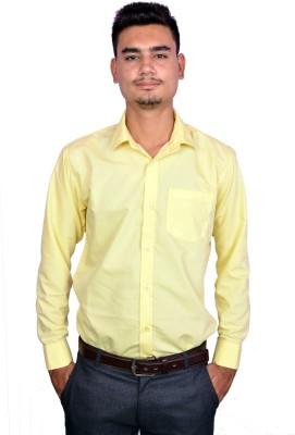 Lee Marc Men's Solid Formal Yellow Shirt