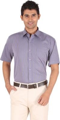 Furore Men's Striped Casual Purple Shirt