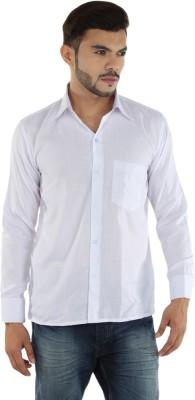 PSK Men's Solid Formal White Shirt