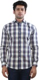 Just Differ Men's Checkered Casual White...