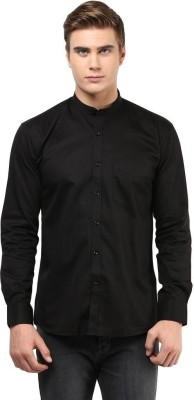 The Vanca Men's Solid Casual Black Shirt