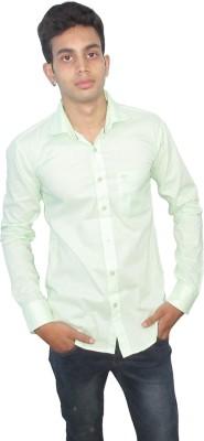 Neptune Men's Self Design Casual Green Shirt