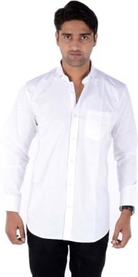 shivam Garments Men's Solid Formal Reversible White Shirt