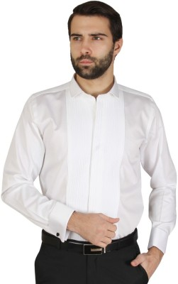 Redcountry Men's Self Design Party White Shirt