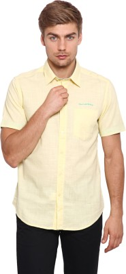 Classic Polo Men's Solid Casual Yellow Shirt