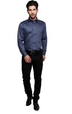 Miche Jeffer Men's Printed Formal Grey Shirt