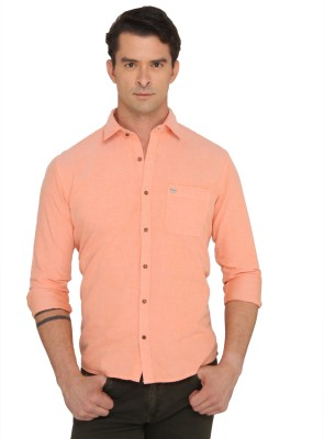 Donear NXG Men's Solid Casual Orange Shirt
