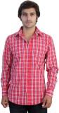 Protonze Men's Checkered Casual Red Shir...