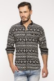 Royalion Men's Printed Casual Black Shir...